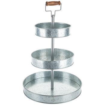 3-tiered galvanized round stand (large)