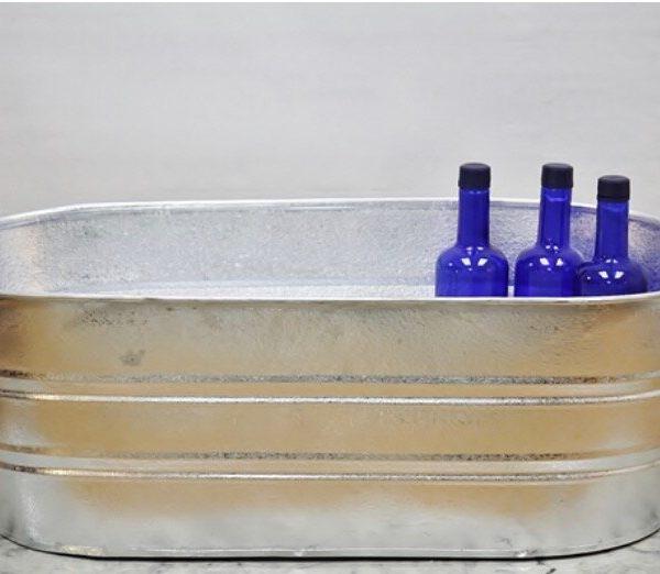 Oval Galvanized Washtub (16 gallon)