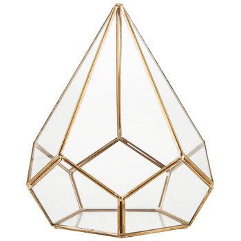 Gold Glass Geo Terrarium