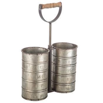 Metal Silverware Container