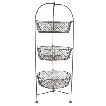 Tall Standing 3-tiered basket