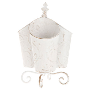 White Antique Metal Caddy